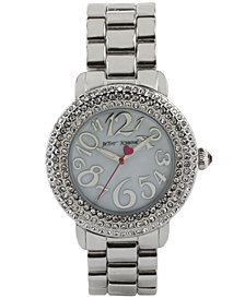 Betsey Johnson Women's Silver-Tone Bracelet Watch 42mm BJ00306-01