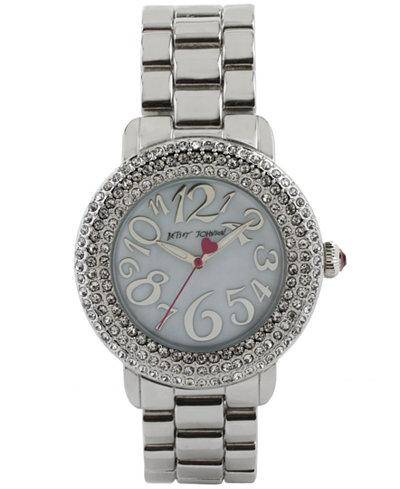 Betsey Johnson Women's Silver-Tone Bracelet Watch 42mm BJ00306-01