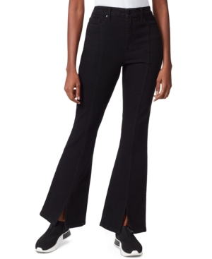 Split-Hem Flare-Leg Jeans
