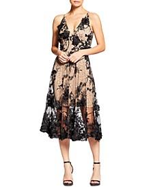 Audrey Floral Appliqué Lace Dress