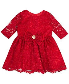 Baby Girls Red Lace Dress