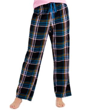 Cotton Woven Plaid Pajama Pants
