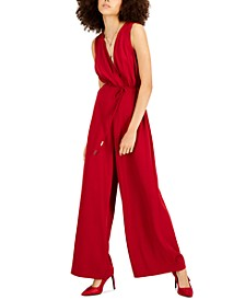 Belted Wide-Leg Jumpsuit, Created for Macy's