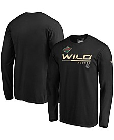 Men's Black Minnesota Wild Authentic Pro Core Collection Prime Long Sleeve T-shirt