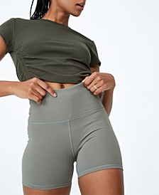 Women's Highwaisted Shortie Shorts