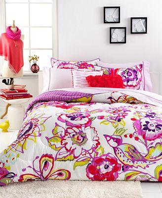 closeout! seventeen bedding mariposa 3 piece comforter sets - bed