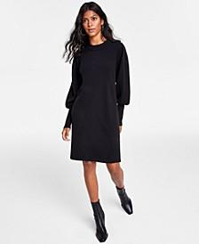 Bishop-Sleeve Sweater Dress