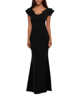 Ruffled-Strap Gown