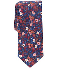 Men's Skinny Floral Tie, Created for Macy's