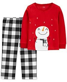 Toddler Girls 2-Pc. Snowman Christmas Pajamas