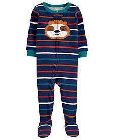 Toddler Boys Sloth Snug Fit One Piece Cotton Footie Pajamas