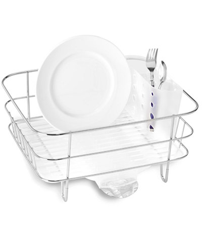 Simplehuman Compact Wire Frame Dish Rack Kitchen Gadgets
