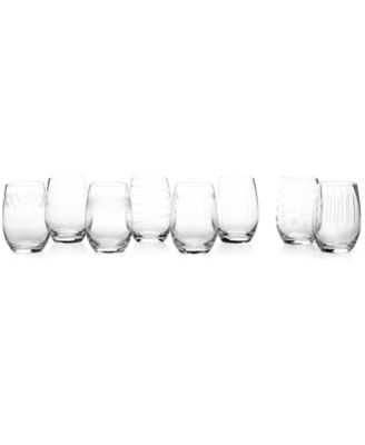 Cheers Stemless Wine Glasses 8 Piece Value Set