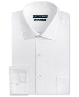 Image of Geoffrey Beene Men's Classic-Fit Wrinkle Free Sateen Dress Shirt