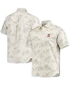 Men's Oatmeal Stanford Cardinal Forest Fronds Button-Up Shirt