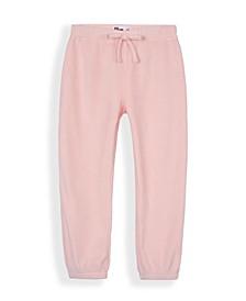 Little Girls Ballet Solid Velour Jogger Pants