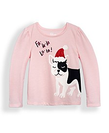Little Girls Seeing Red Long Sleeve Graphic T-shirt