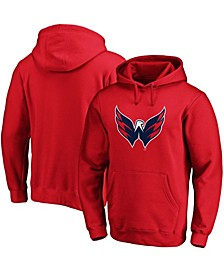 Men's Red Washington Capitals Primary Logo Pullover Hoodie