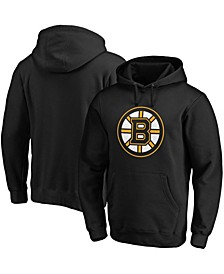 Men's Big and Tall Black Boston Bruins Primary Team Logo Fleece Pullover Hoodie
