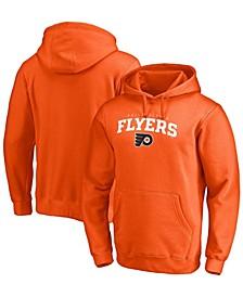 Men's Orange Philadelphia Flyers Team Lockup Pullover Hoodie
