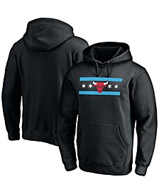 Men's Black Chicago Bulls Post Up Hometown Collection Pullover Hoodie