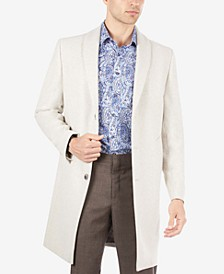 Men's Overcoat with Removable Sherpa Collar