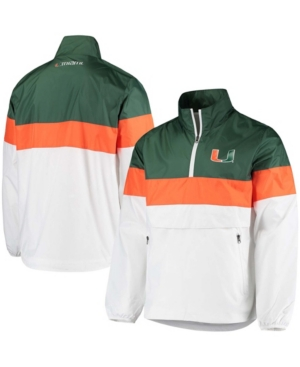 Men's White Miami Hurricanes No Huddle Half-Zip Pullover Jacket