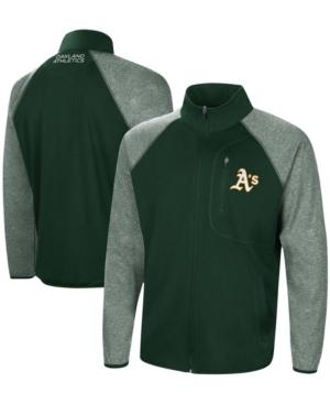 Men's Green Oakland Athletics Freestyle Transitional Raglan Full-Zip Jacket