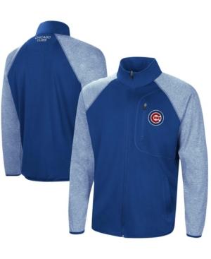 Men's Royal Chicago Cubs Freestyle Transitional Raglan Full-Zip Jacket