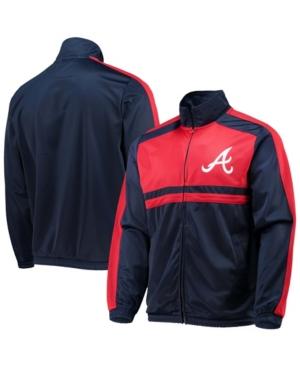 Men's Navy Atlanta Braves Full-Zip Track Jacket