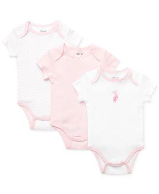 Baby Girls Bodysuits 3-Pack