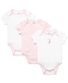 Baby Girls Bodysuits 3-Pack