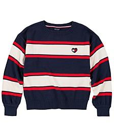 Big Girls Bold Stripe Sweater