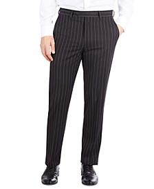 Men's Classic-Fit Black Stripe Suit Separate Pants