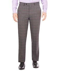 Men's Classic-Fit Check Suit Separate Pants