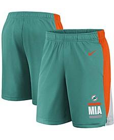 Youth Boys Aqua Miami Dolphins Shorts