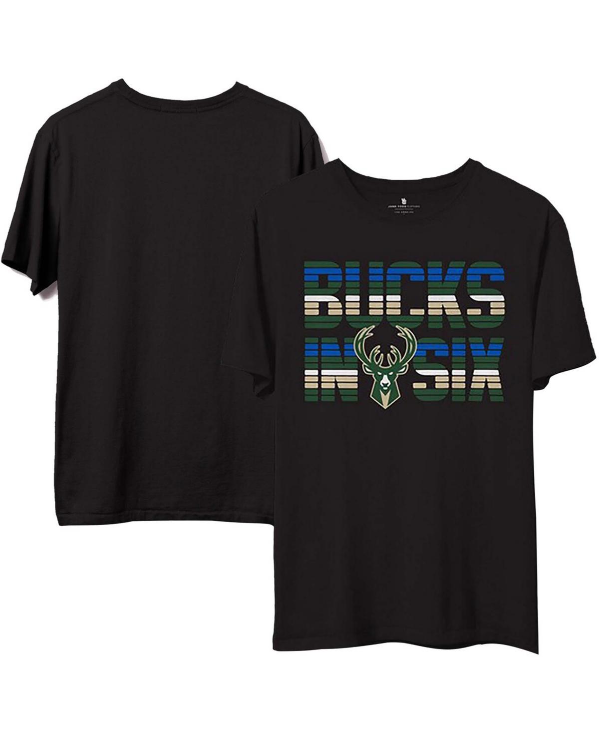 Men's Black Milwaukee Bucks 2021 Nba Finals Champions Bucks in Six T-shirt
