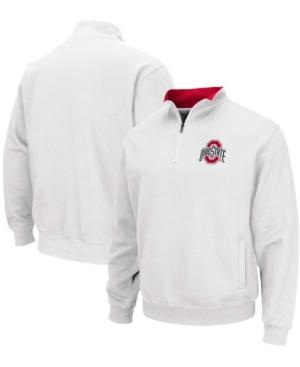 Men's White Ohio State Buckeyes Tortugas Team Logo Quarter-Zip Jacket