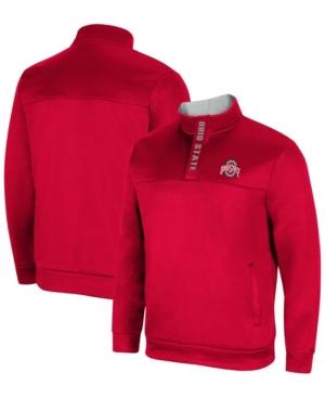 Men's Scarlet Ohio State Buckeyes No Tomorrow Quarter-Zip Jacket