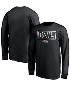 Youth Boys Black Baltimore Ravens Squad Throwback Long Sleeve T-shirt