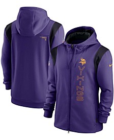 Men's Purple Minnesota Vikings Sideline Team Performance Full-Zip Hoodie