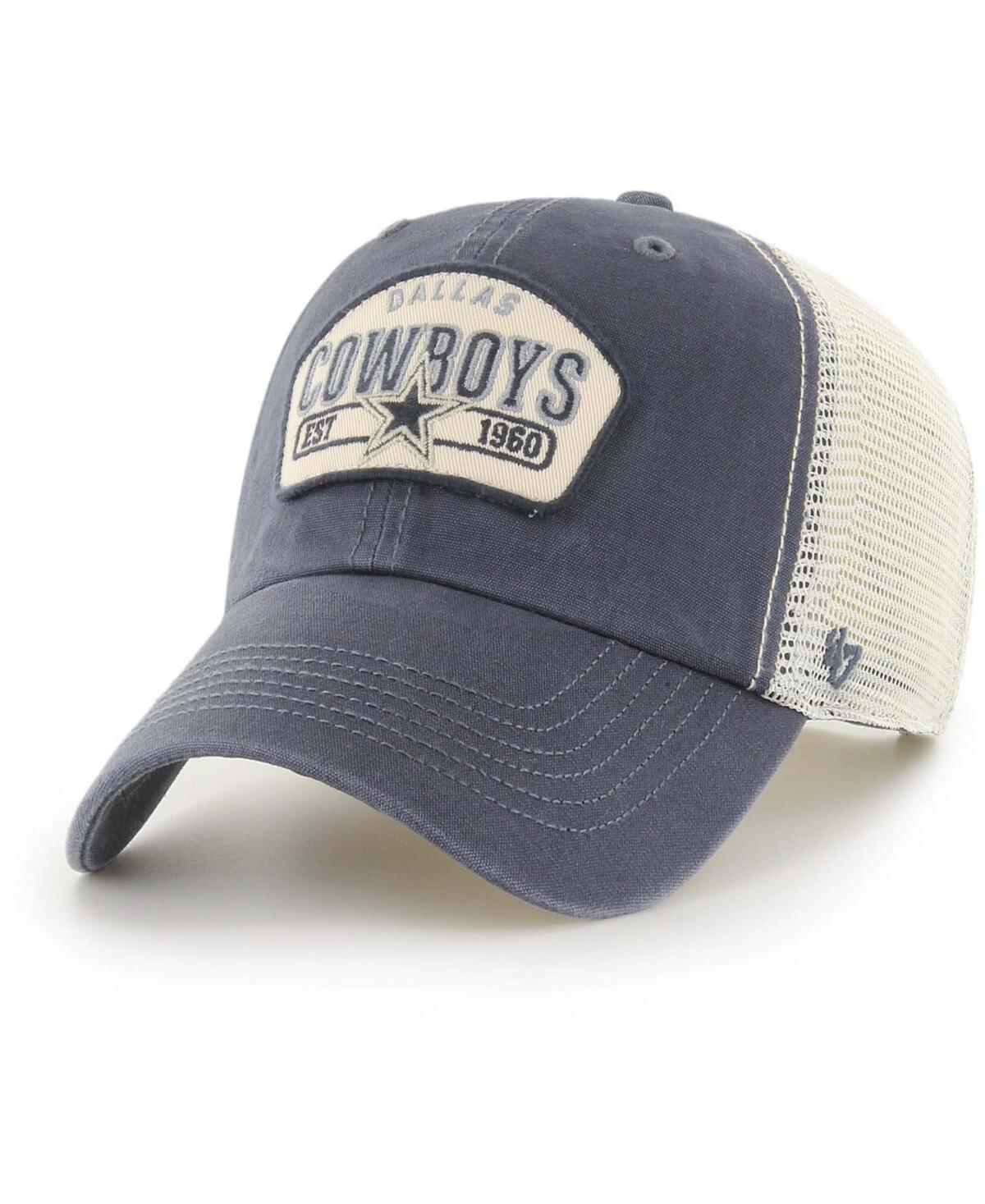 Mens Navy, White Dallas Cowboys Penwald Cleanup Trucker Snapback Hat