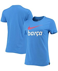 Women's Blue Barcelona Swoosh Club T-shirt