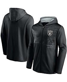Men's Black Las Vegas Raiders Defender Full-Zip Hoodie Jacket