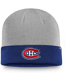 Men's Gray, Blue Montreal Canadiens Two-Tone Cuffed Knit Hat