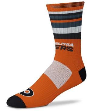 Men's and Women's Philadelphia Flyers Rave Orange Crew Socks