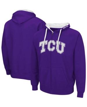 Men's Purple Tcu Horned Frogs Arch Logo 2.0 Full-Zip Hoodie