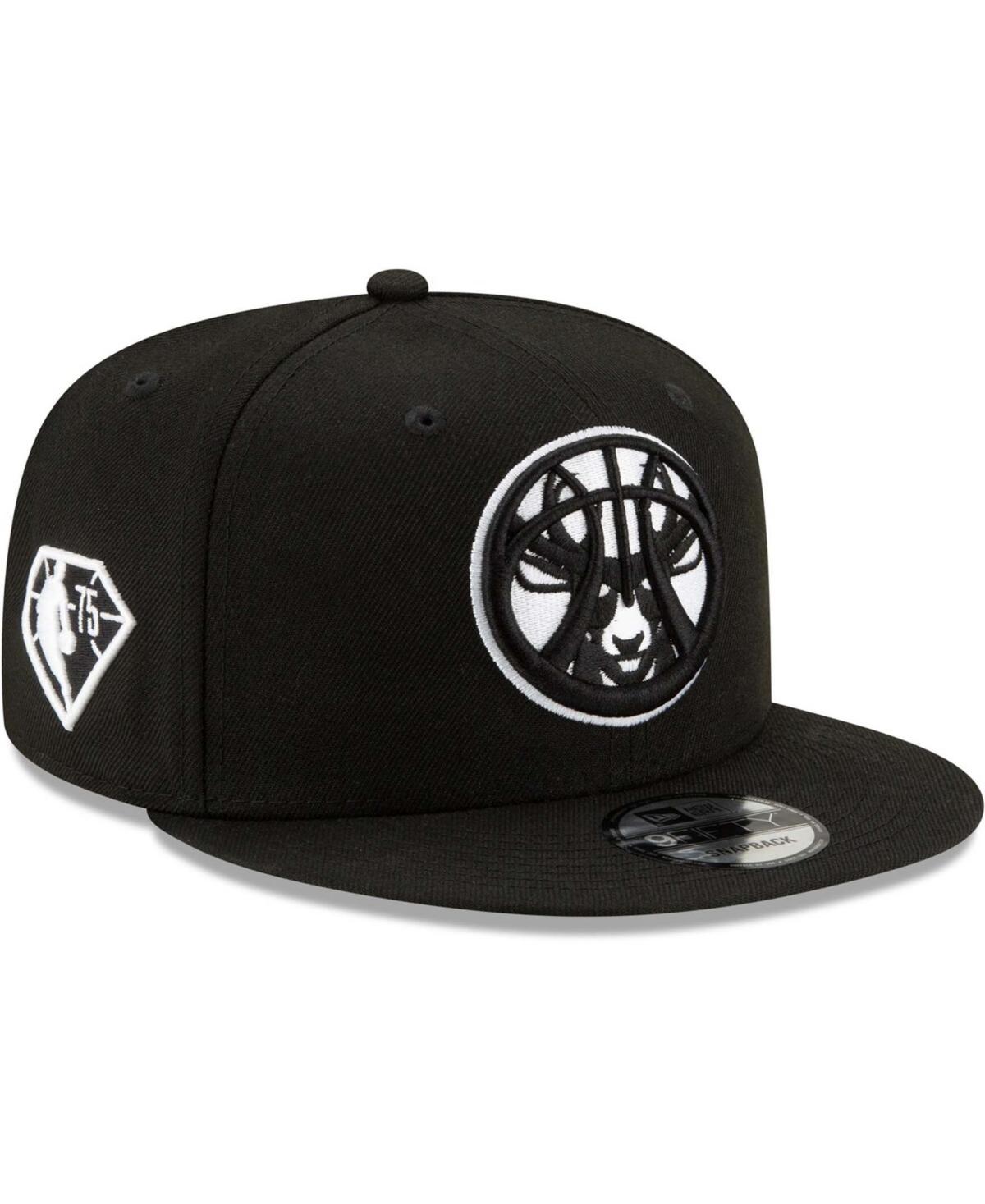 Men's Black Milwaukee Bucks 2021 Nba Draft Alternate 9Fifty Snapback Hat
