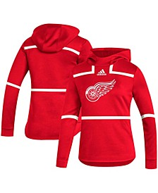 Women's Red Detroit Red Wings Under The Lights Aeroready Pullover Hoodie