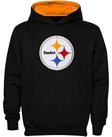 Preschool Girls and Boys Black Pittsburgh Steelers Fan Gear Primary Logo Pullover Hoodie